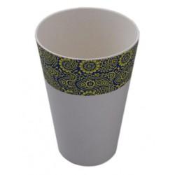 Vaso 443 ml. Mod Paisley. Bambú 100% Biodegradable