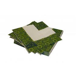 Pack 50 servilletas. Mod Paisley. Bambú 100% Biodegradable
