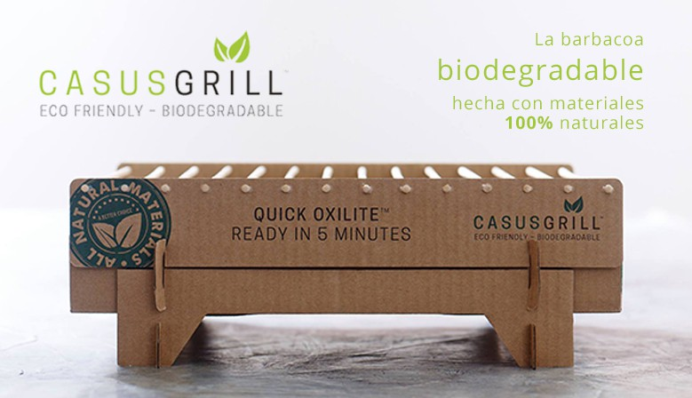 CasusGrill La barbacoa biodegradable de un sólo uso