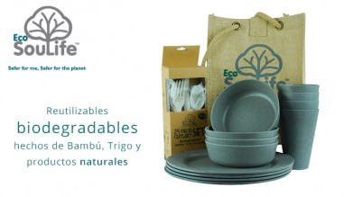 Ecosoulife Vajillas biodegradables