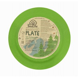 Plato 25 cm. Bambú 100% Biodegradable