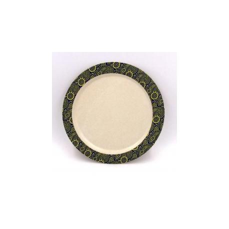 Plato 22,5 cm. Mod Paisley. Bambú 100% Biodegradable
