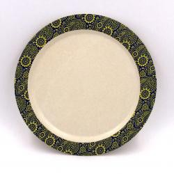 Plato 19,5 cm. Mod Paisley. Bambú 100% Biodegradable